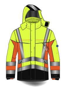 Multinorm High Visibility 3 in 1 Jacket with Detachable fleece