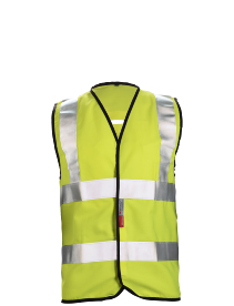 FR HV  vest with harness opening