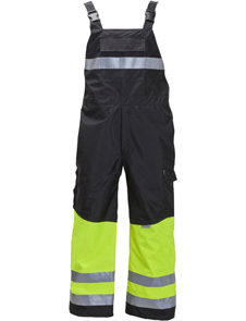 Premium cold weather breathable bib pants with thermal lining